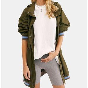 Free People Contrast-Trim Anorak Jacket Size M